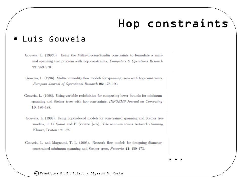 Hop constraints Luis Gouveia ...