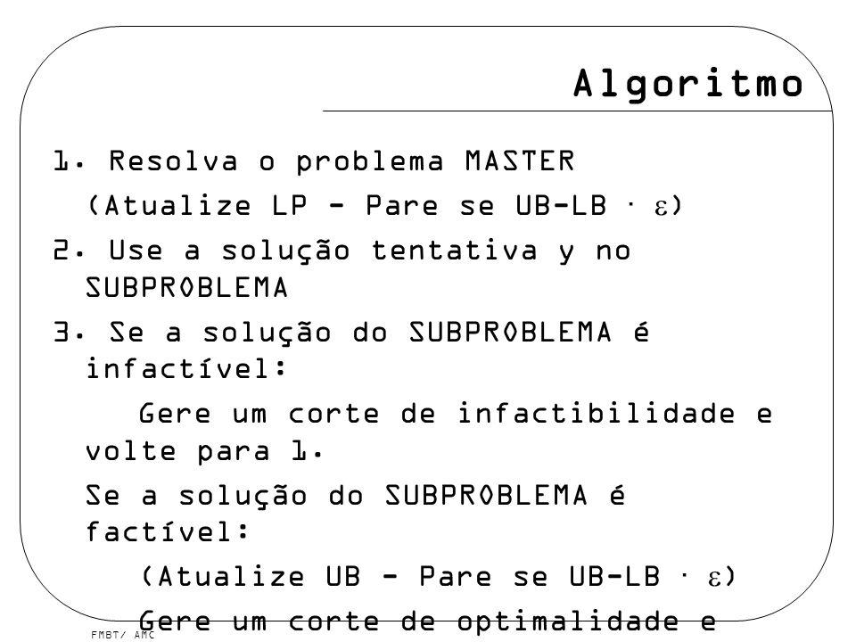 Algoritmo 1. Resolva o problema MASTER