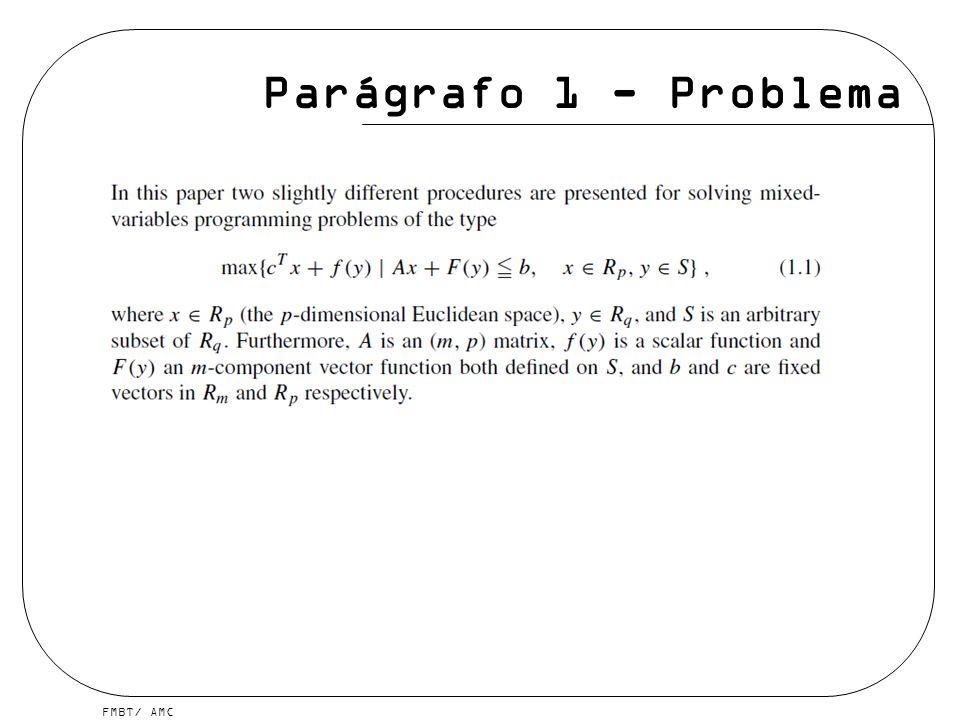 Parágrafo 1 - Problema