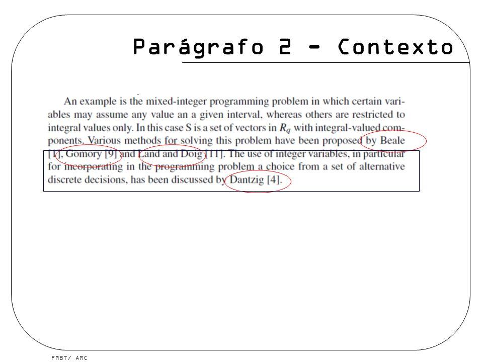 Parágrafo 2 - Contexto