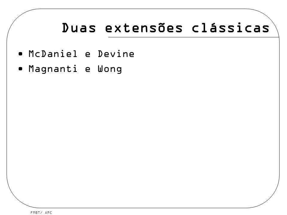 Duas extensões clássicas