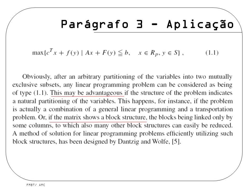 Parágrafo 3 - Aplicação