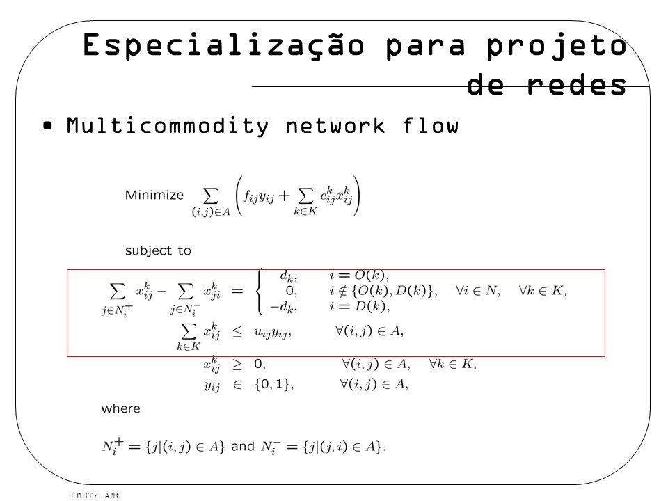 Especialização para projeto de redes