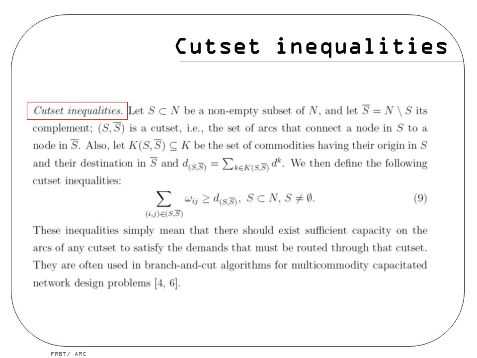 Cutset inequalities