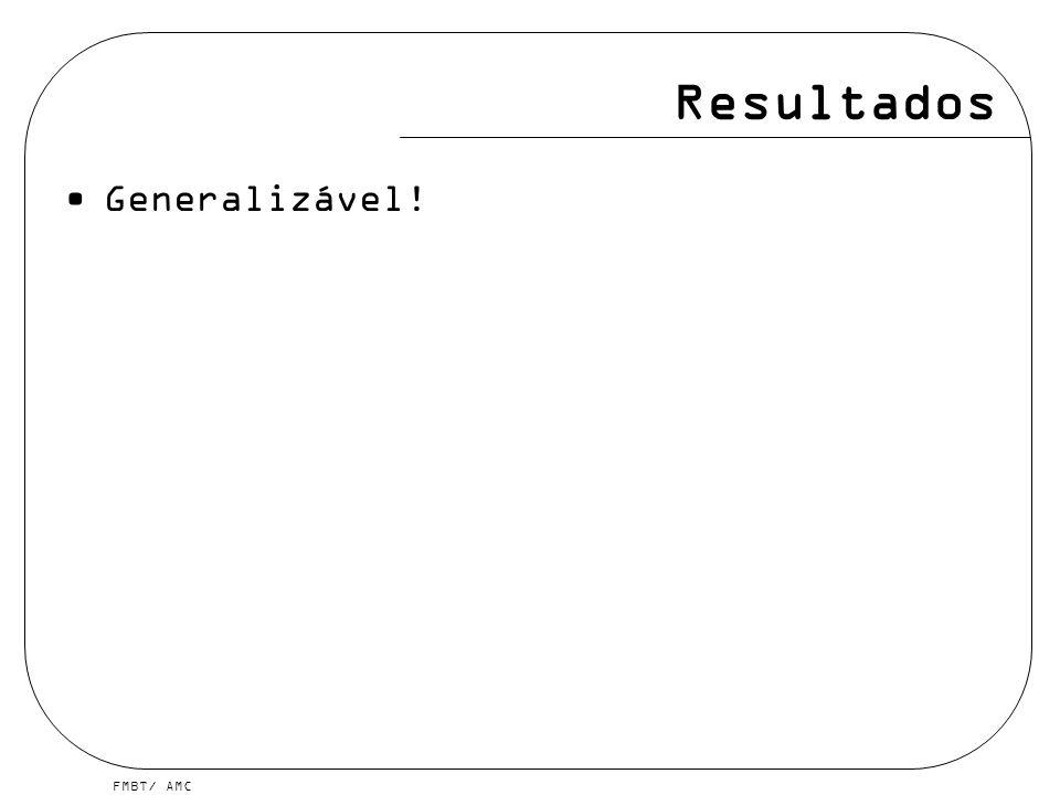 Resultados Generalizável!