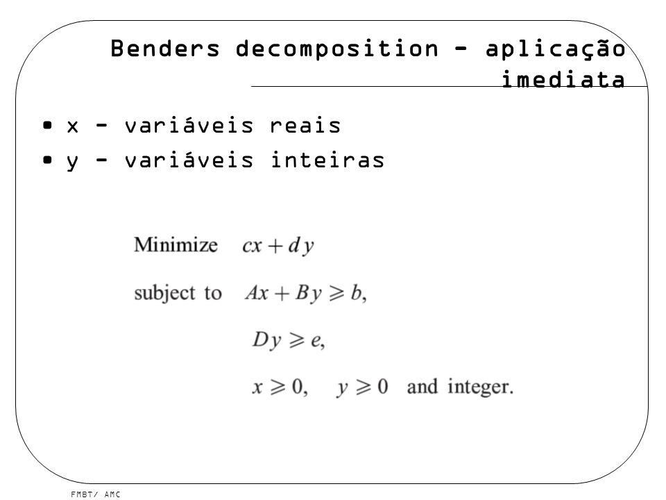 Benders decomposition - aplicação imediata