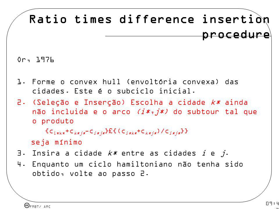 Ratio times difference insertion procedure