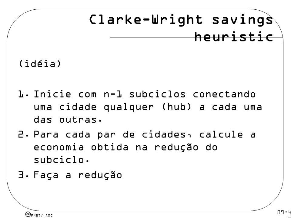 Clarke-Wright savings heuristic