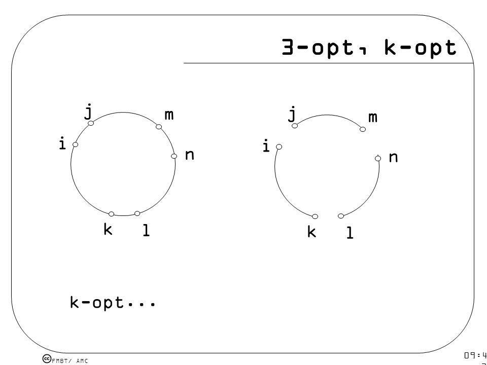 3-opt, k-opt i j k l n m i j k l n m k-opt... 09:48 12 mar 2009.