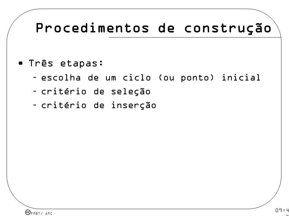 Procedimentos de construção