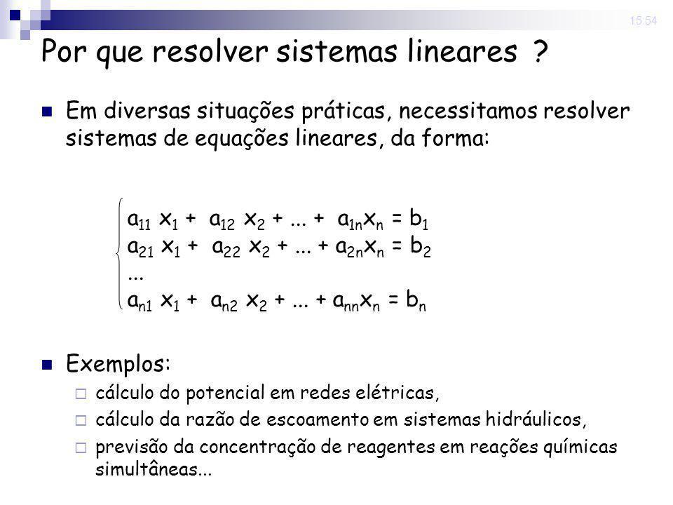 Por que resolver sistemas lineares