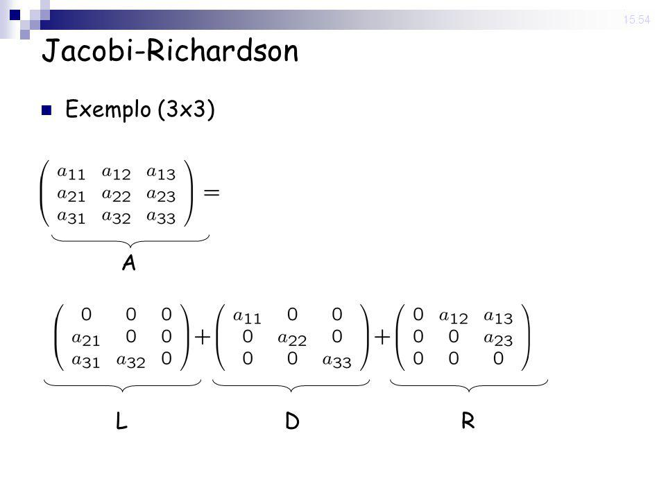 14 Nov 2008 . 15:54 Jacobi-Richardson Exemplo (3x3) A L D R