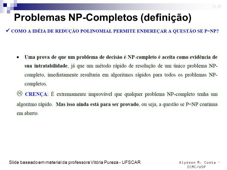 Problemas NP-Completos (definição)