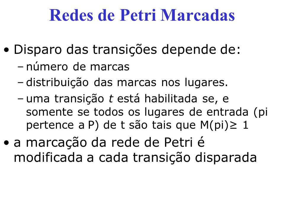 Redes de Petri Marcadas