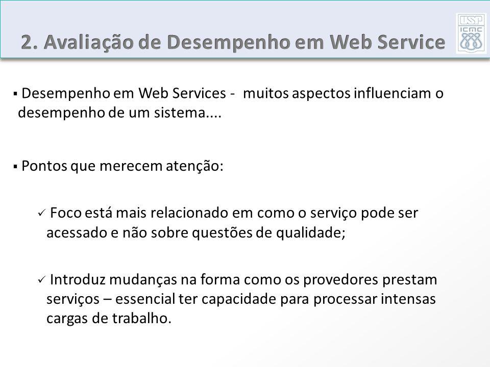 2. Avaliação de Desempenho em Web Service