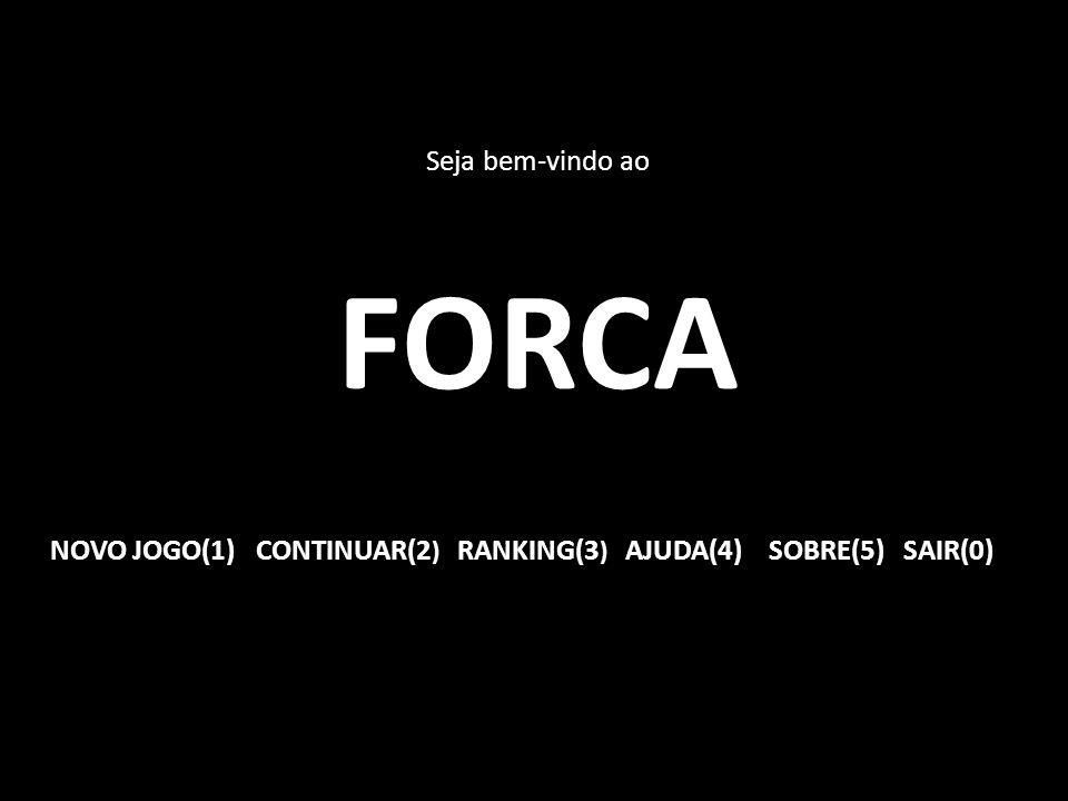 Seja bem-vindo ao FORCA