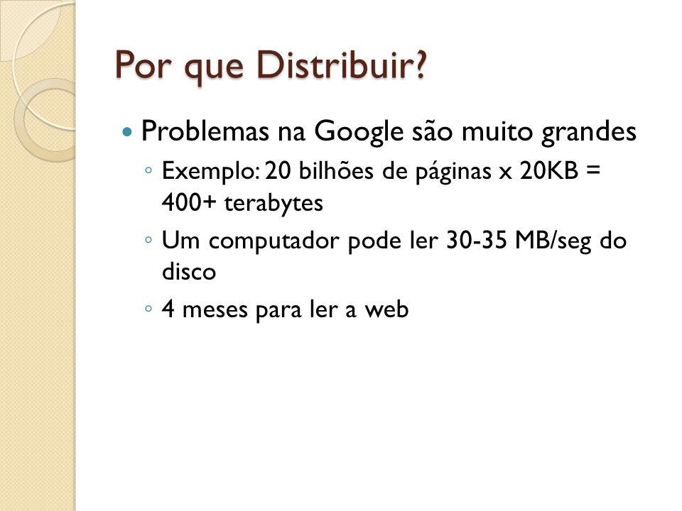 Por que Distribuir Problemas na Google são muito grandes