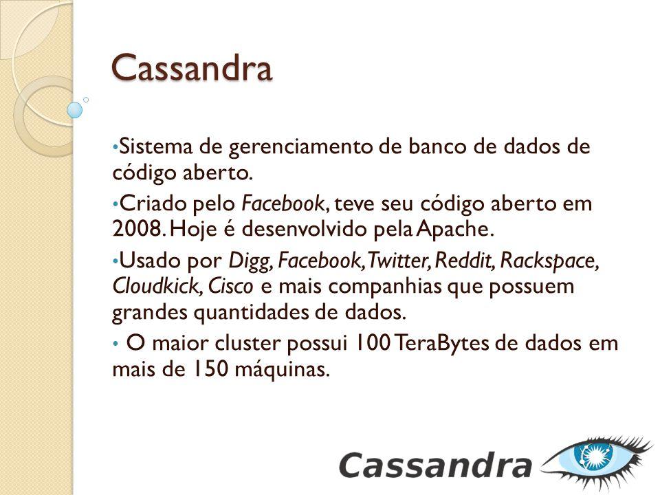 Cassandra Sistema de gerenciamento de banco de dados de código aberto.