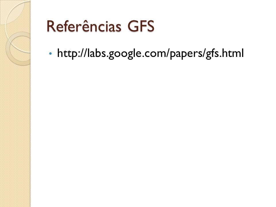 Referências GFS http://labs.google.com/papers/gfs.html