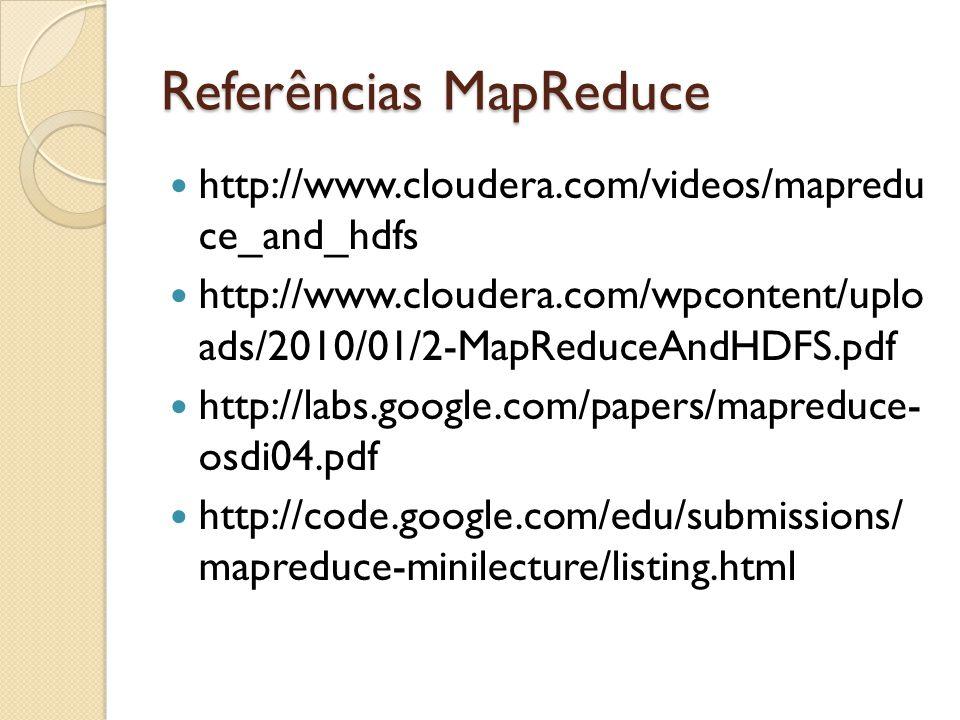 Referências MapReduce