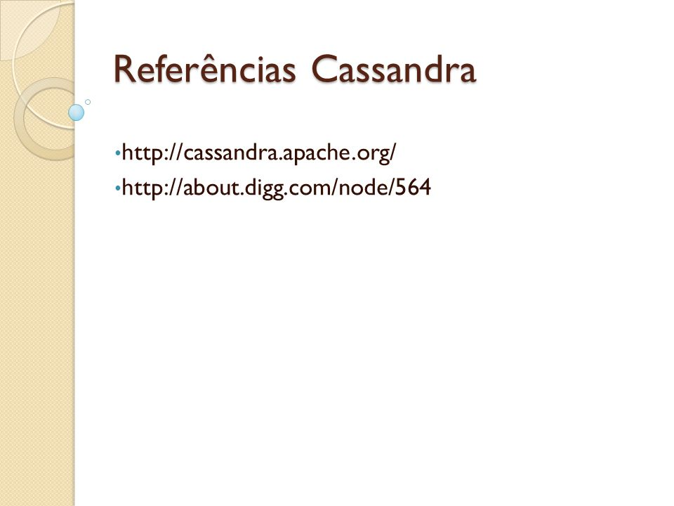 Referências Cassandra