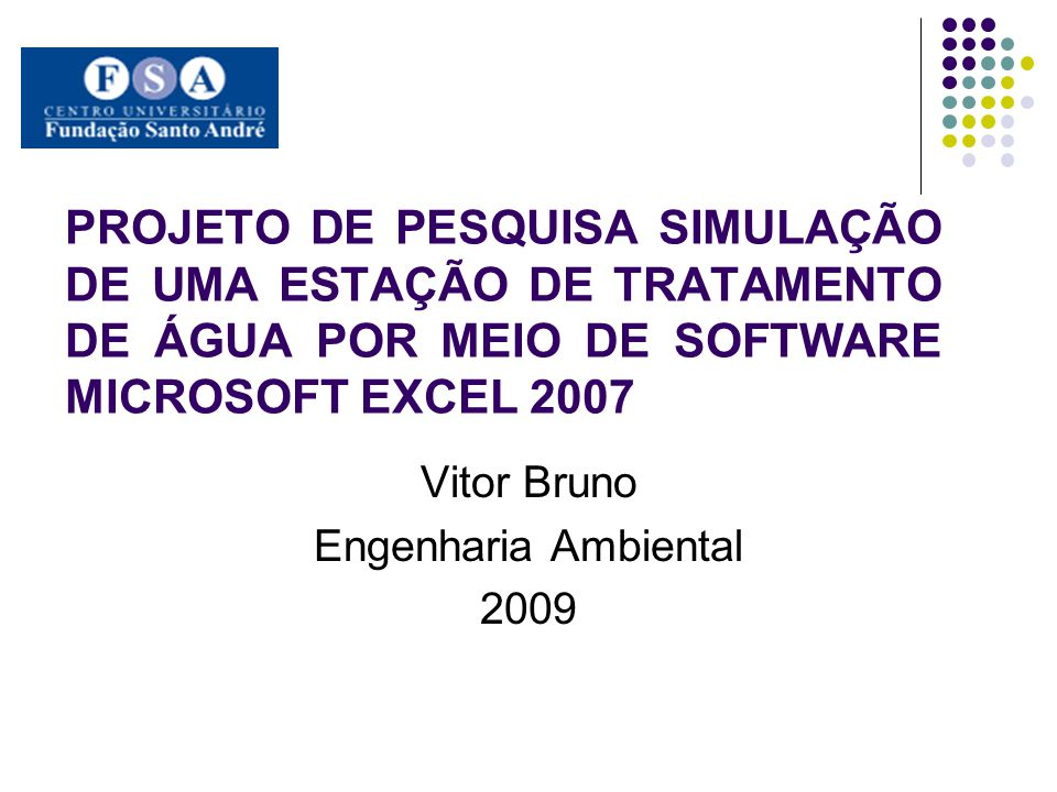 Vitor Bruno Engenharia Ambiental 2009