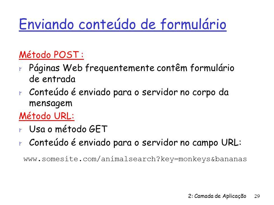 Enviando conteúdo de formulário