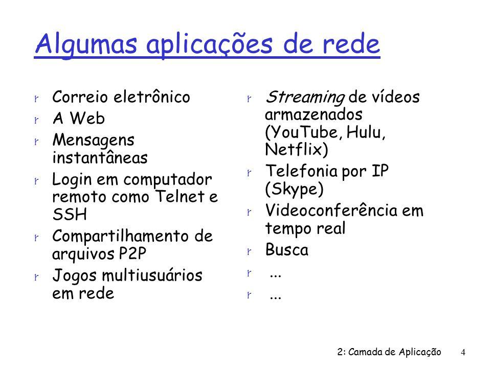 Algumas aplicações de rede