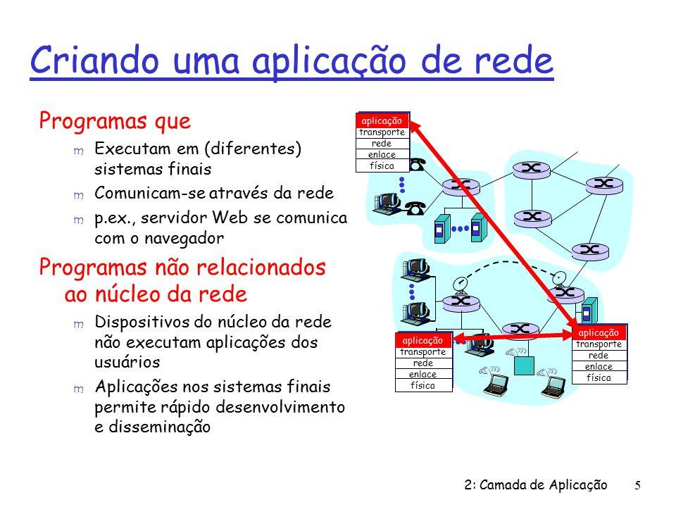 Criando uma aplicação de rede