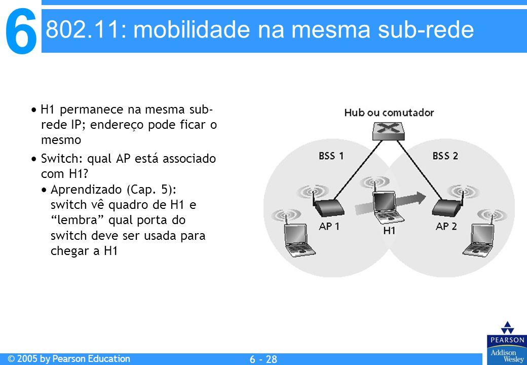 802.11: mobilidade na mesma sub-rede