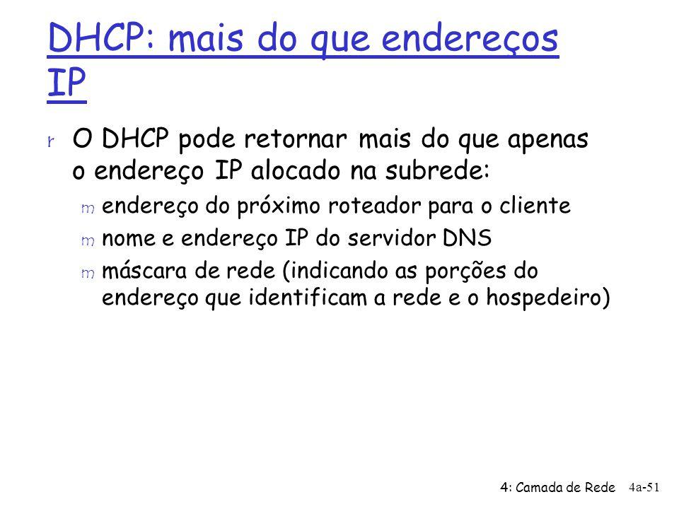 DHCP: mais do que endereços IP