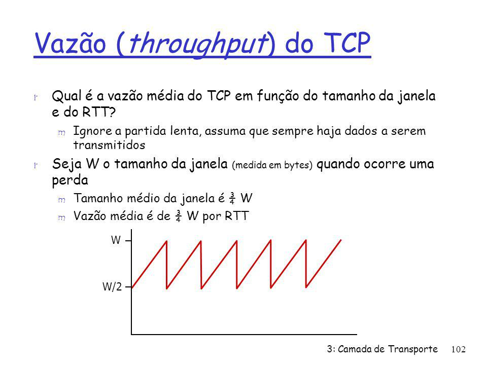 Vazão (throughput) do TCP