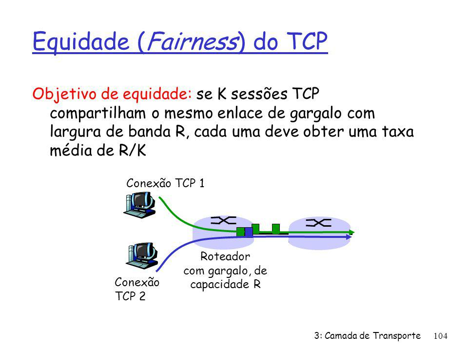 Equidade (Fairness) do TCP