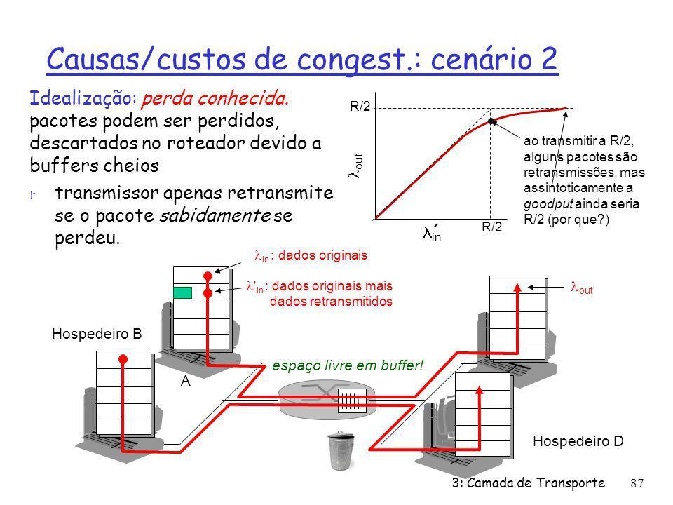 Causas/custos de congest.: cenário 2