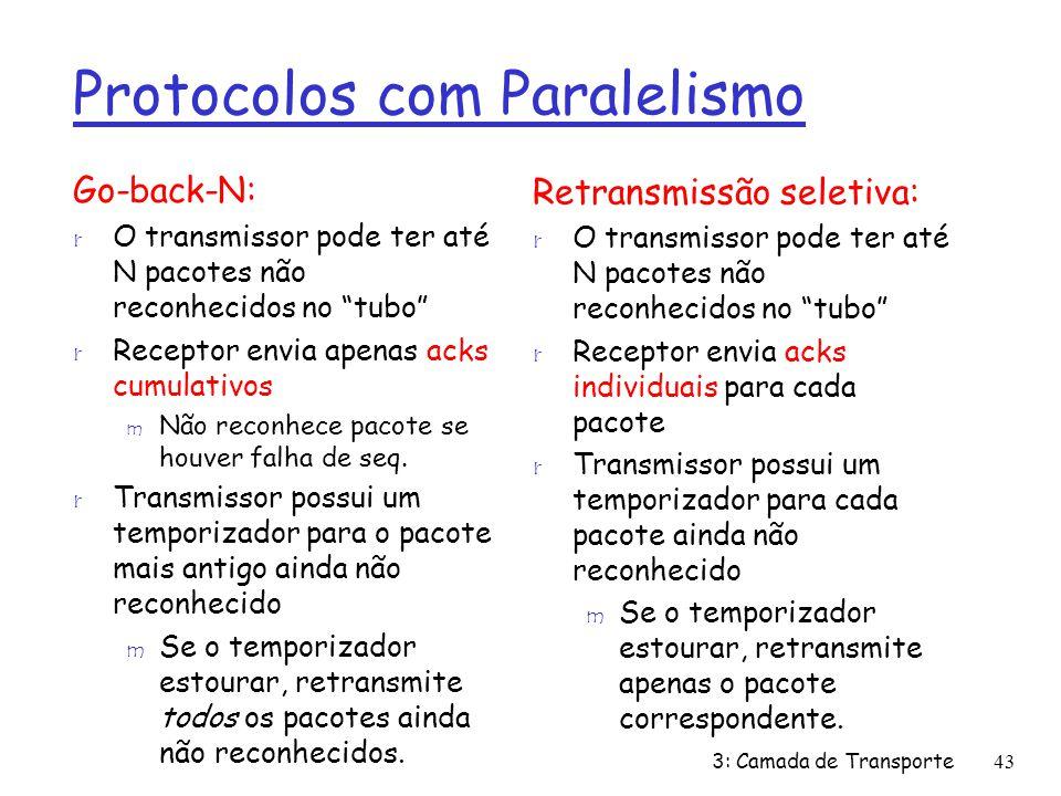 Protocolos com Paralelismo