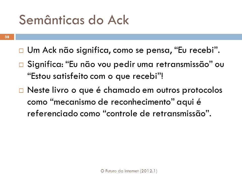 Semânticas do Ack Um Ack não significa, como se pensa, Eu recebi .