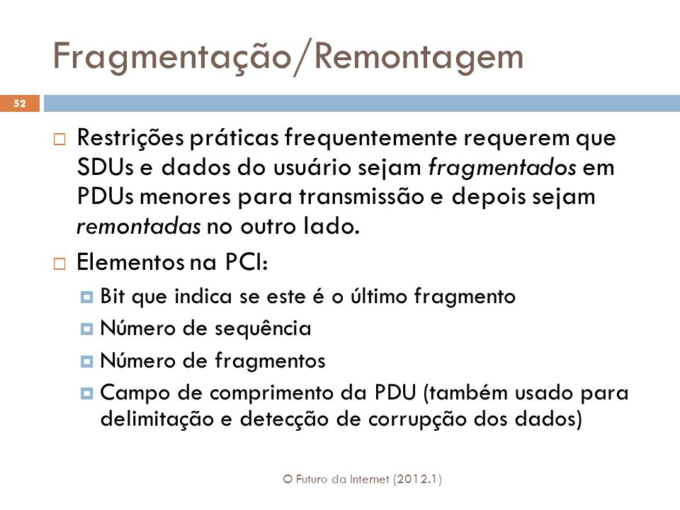 Fragmentação/Remontagem