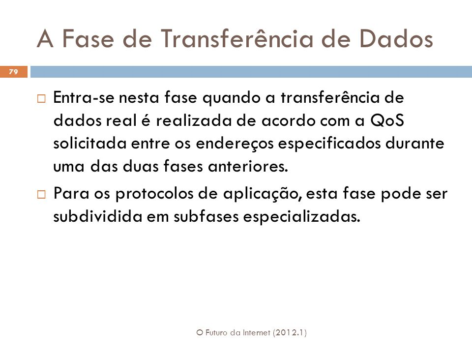 A Fase de Transferência de Dados