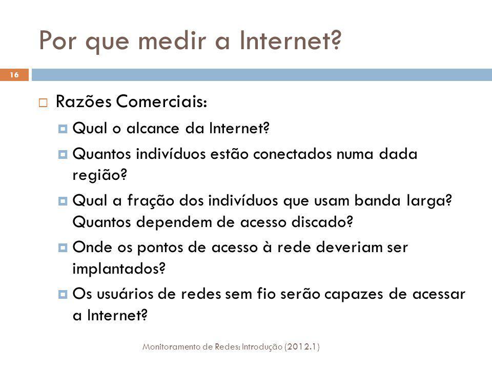 Por que medir a Internet