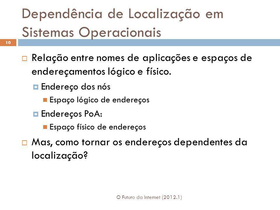 Dependência de Localização em Sistemas Operacionais