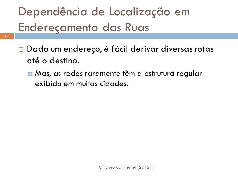 Dependência de Localização em Endereçamento das Ruas