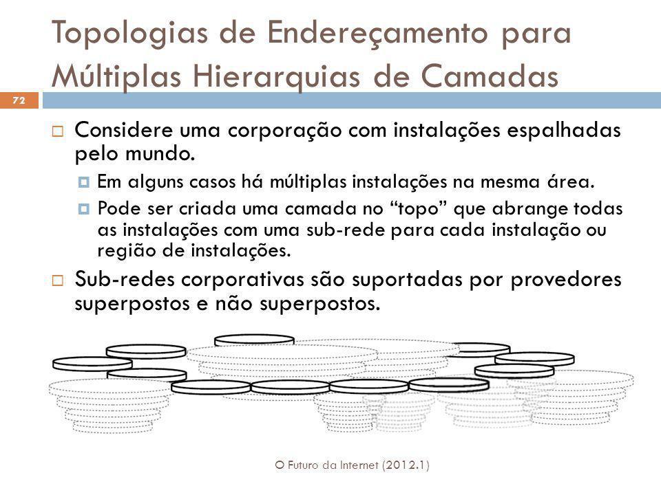 Topologias de Endereçamento para Múltiplas Hierarquias de Camadas