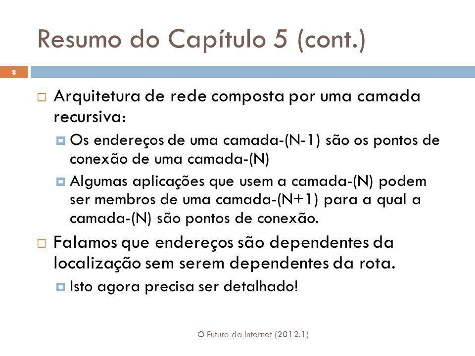 Resumo do Capítulo 5 (cont.)