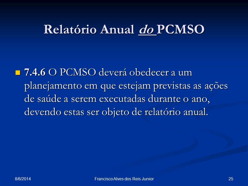 Relatório Anual do PCMSO