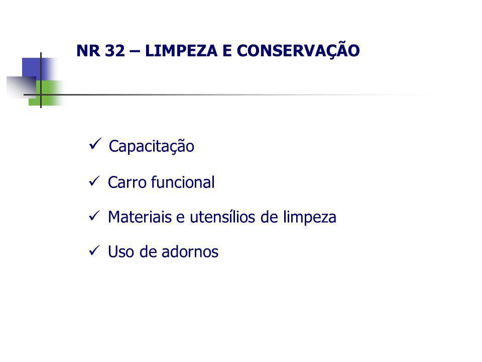 NR 32 – LIMPEZA E CONSERVAÇÃO