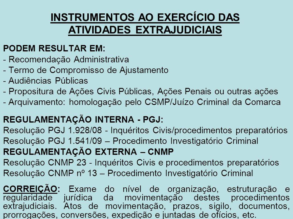 INSTRUMENTOS AO EXERCÍCIO DAS ATIVIDADES EXTRAJUDICIAIS