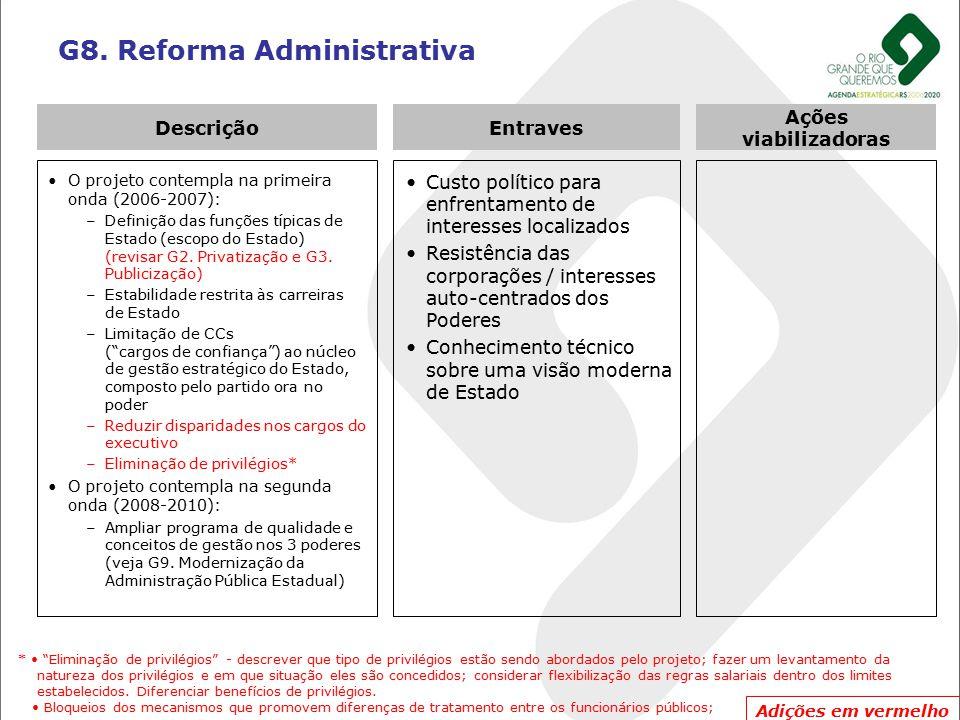 G8. Reforma Administrativa