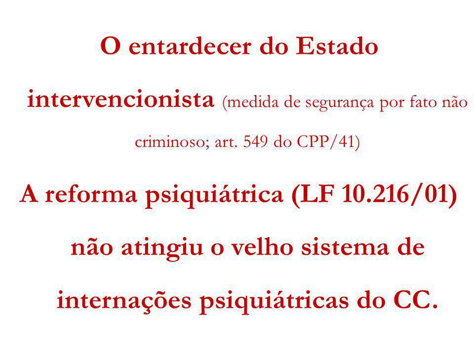 O entardecer do Estado intervencionista (medida de segurança por fato não criminoso; art. 549 do CPP/41)