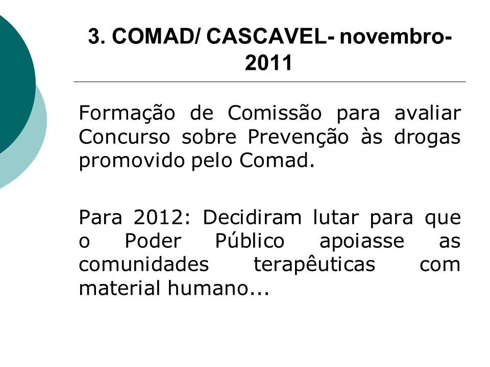 3. COMAD/ CASCAVEL- novembro- 2011