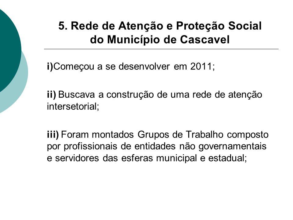 5. Rede de Atenção e Proteção Social do Município de Cascavel